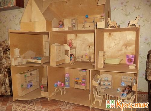 Домик кукольный своими руками фото
